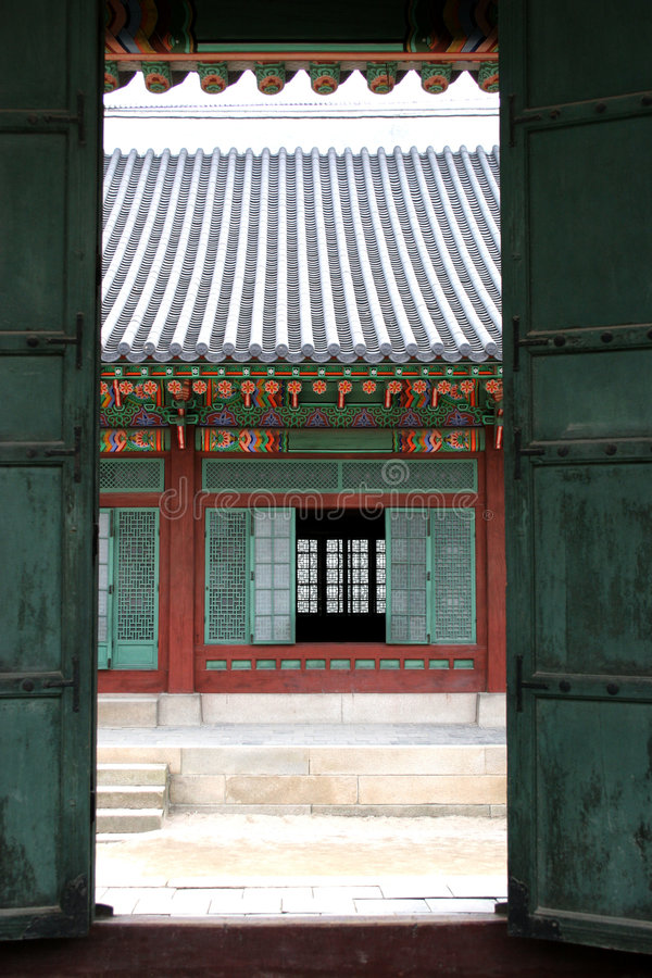 Korean palace royalty free stock photo