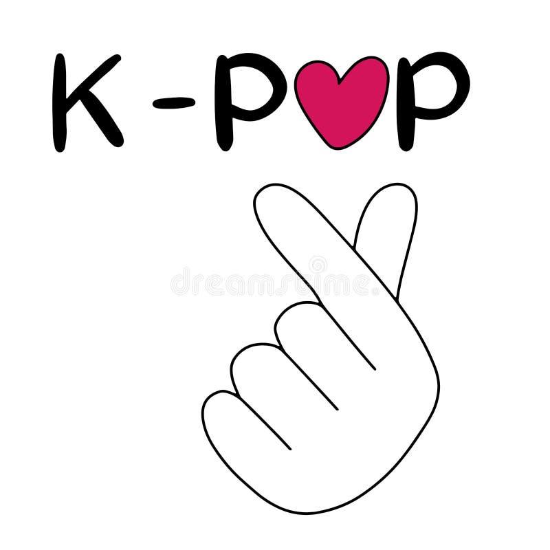 korean popular music style finger heart symbol k pop korean popular music style finger heart symbol flag k pop hand drawn 175833494