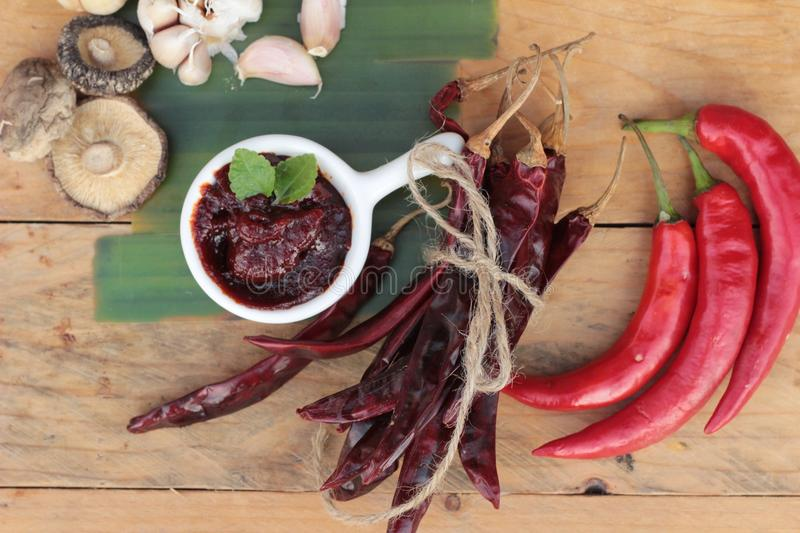Korean red pepper paste gochujang for cooking. stock image