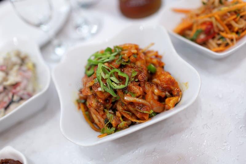 Korean salad in restaurant royalty free stock photos