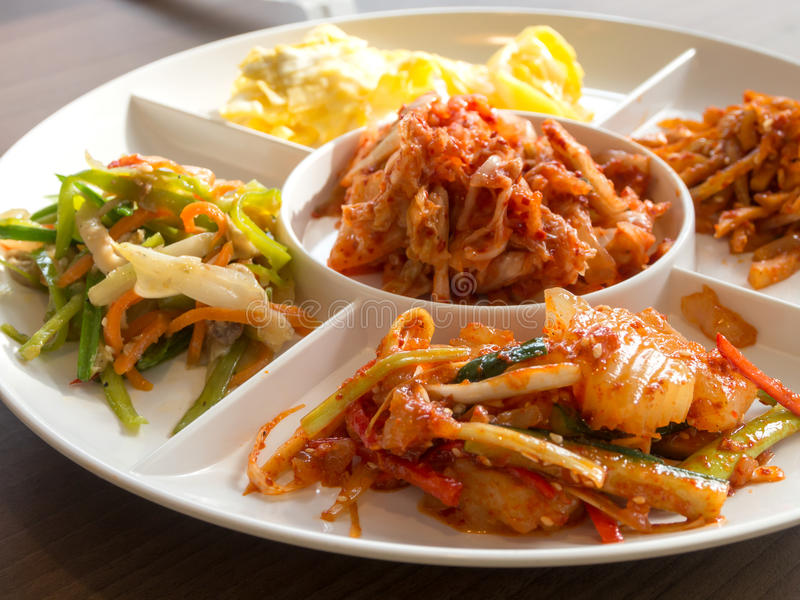 Korean side dish. Closedup of Korean side dish pickle royalty free stock images