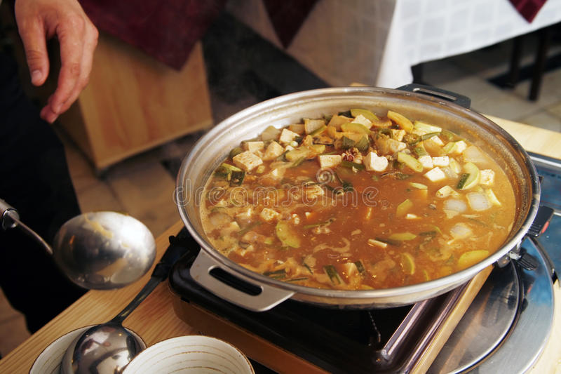 Korean soup royalty free stock photography