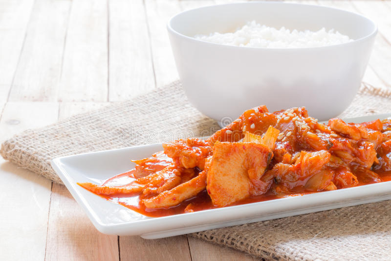 Korean stir-fried pork stock photography