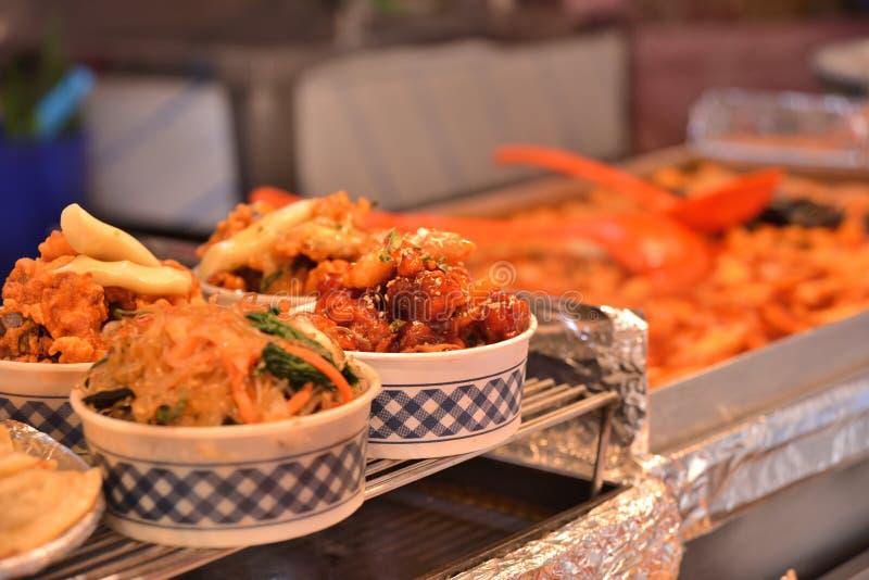 Korean Style hot snacks in bowl stock images