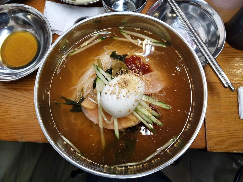 Korean style noodle royalty free stock photography