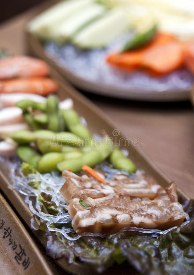 Download Korean table setting stock image. Image of spicy, mixture - 15250103