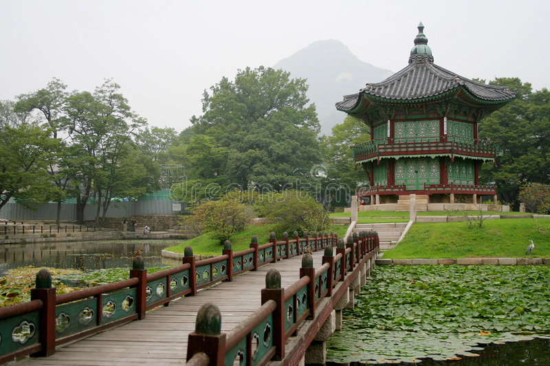 Korean temple royalty free stock images