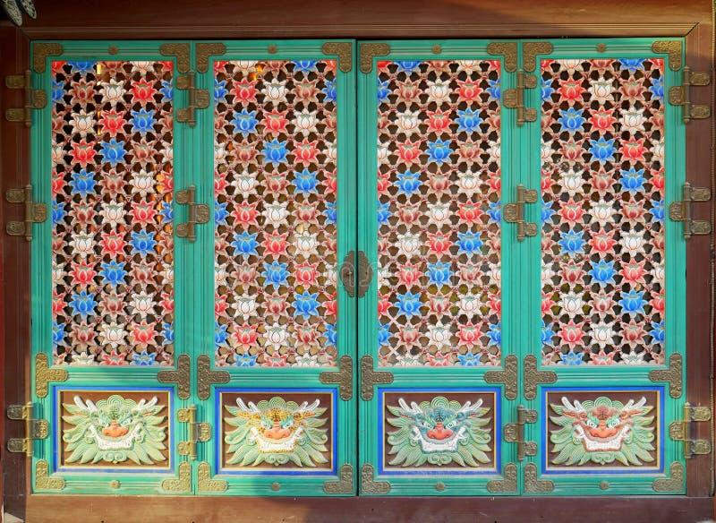 Korean traditional door royalty free stock photo