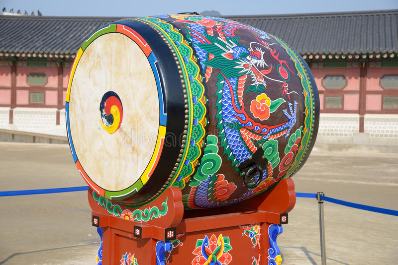 Korean traditional drum royalty free stock photography