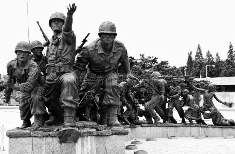 Korean War memorial, Seoul stock images