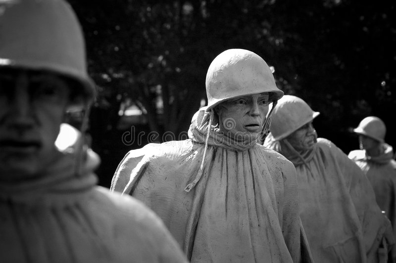 The Korean War Veterans Memorial royalty free stock photos