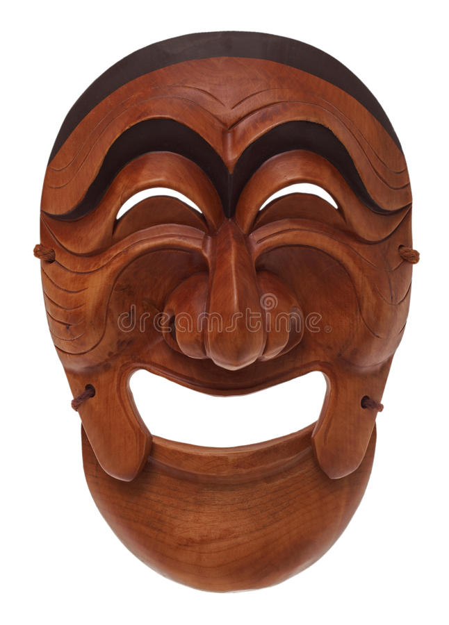 Korean wooden mask royalty free stock photo