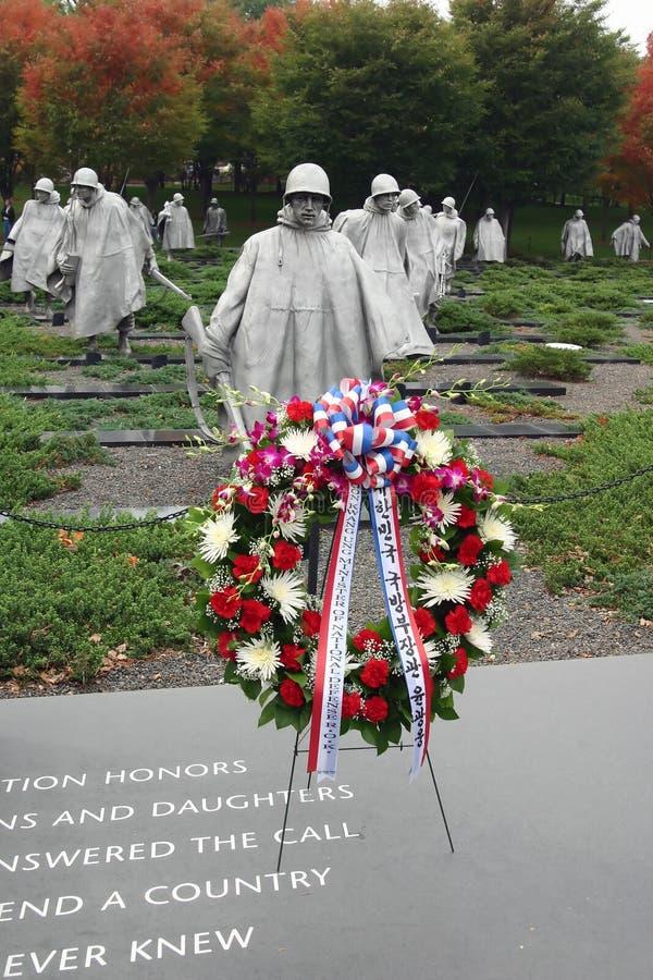 Korean Wreath in rememberance of Korean War stock image