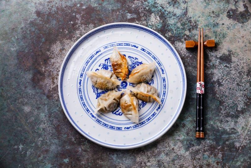 Koreaner Fried Dumplings Cham stockbilder