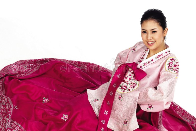 Koreanische Dame stockfotografie