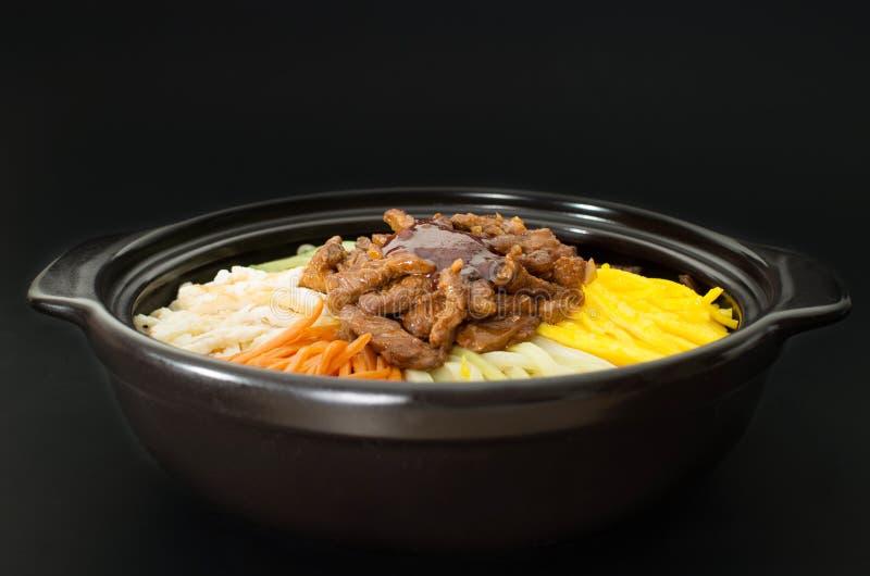 Koreanische Küche, Rindfleisch Bibimbap stockbild