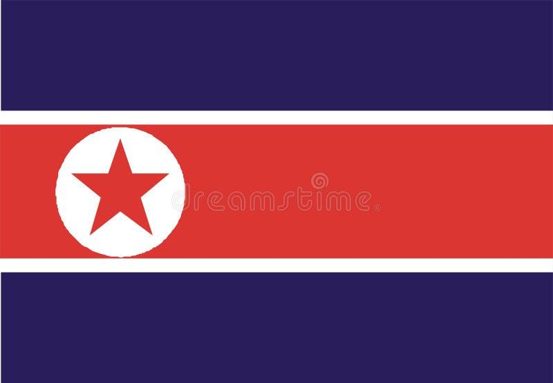 Koreanische Markierungsfahne stock abbildung