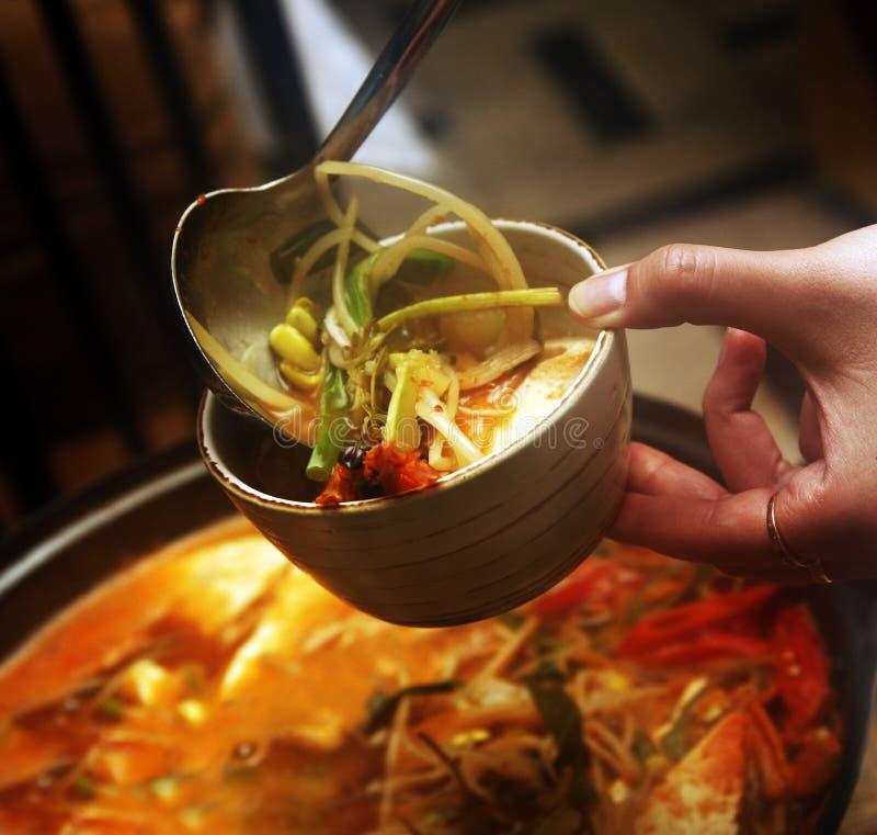 Koreanische Suppe lizenzfreie stockfotografie