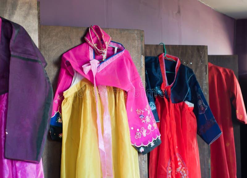 Koreanische traditionelle Kleidung stockfoto