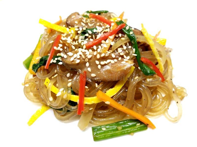 Koreanische Zellophan-Nudeln stockfotos