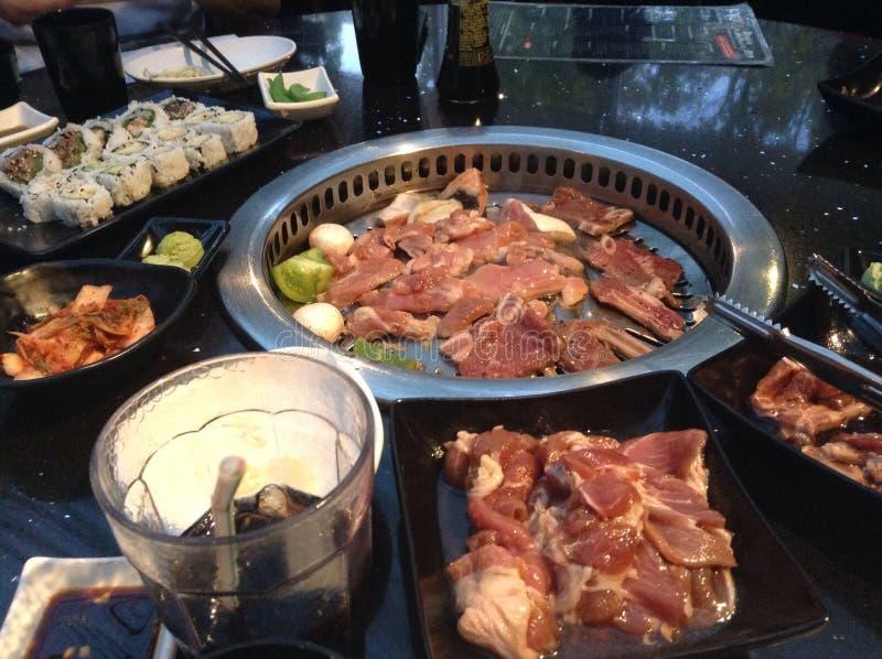 Koreanischer BBQ stockfoto