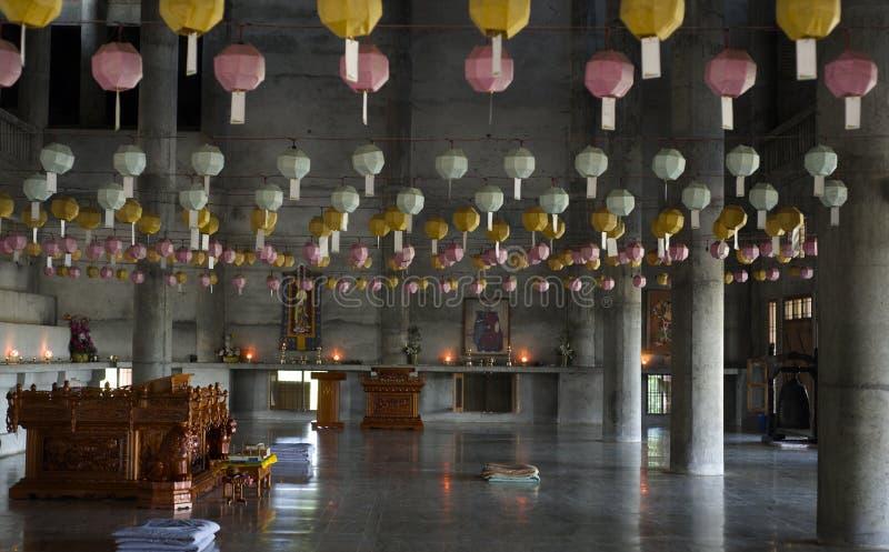 Koreanischer buddhistischer Tempel stockbilder