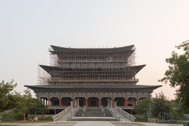 Koreanischer buddhistischer Tempel in Lumbini, Nepal stockbild