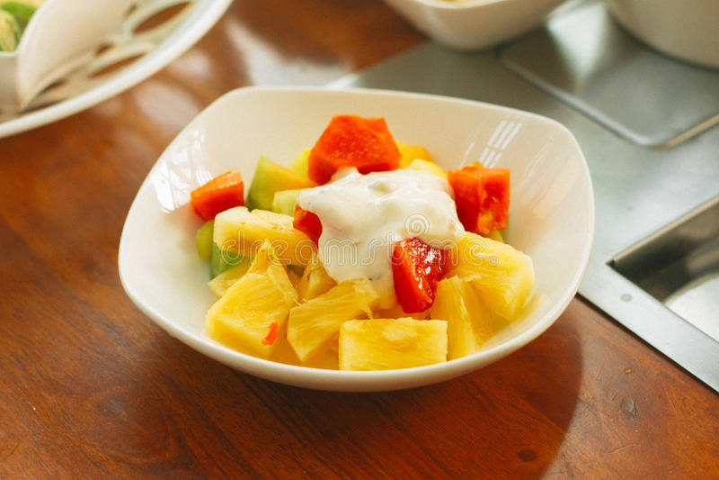 Koreanischer Fruchtsalat lizenzfreie stockfotos