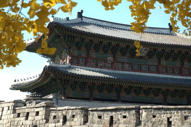 Koreanisches Stadttor in Seoul lizenzfreie stockbilder