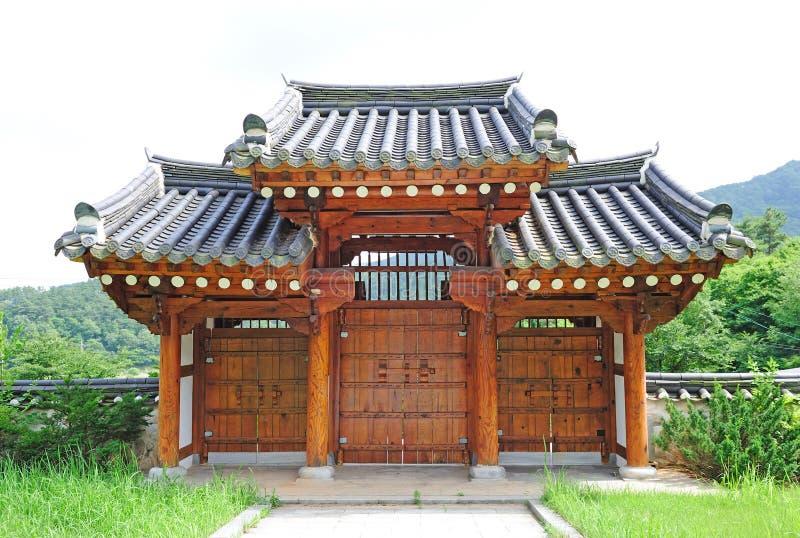 Koreanisches traditionelles Gatter stockbilder