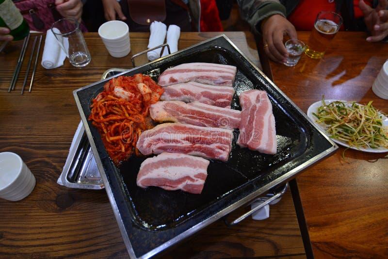 Koreansk BBQ-grisköttbuk royaltyfri bild