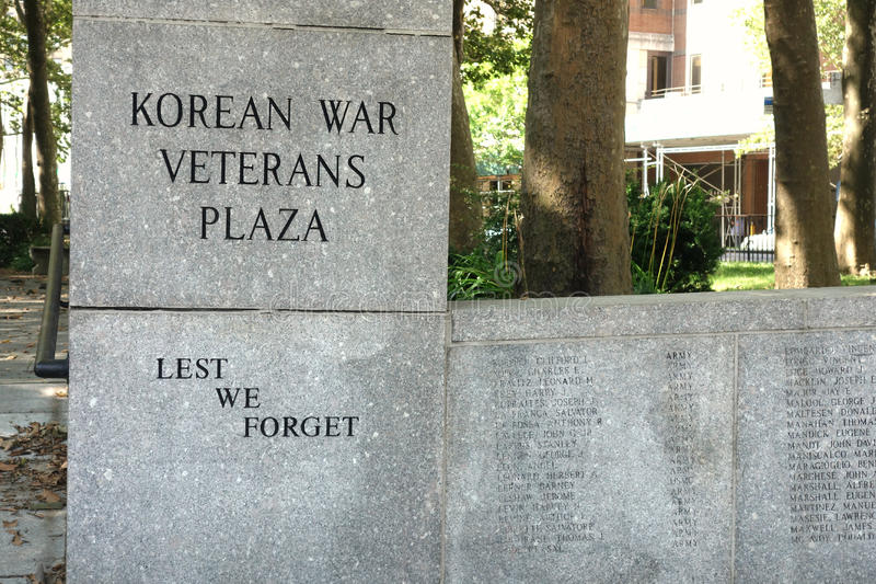 Koreansk krigsveteranPlaza royaltyfri foto