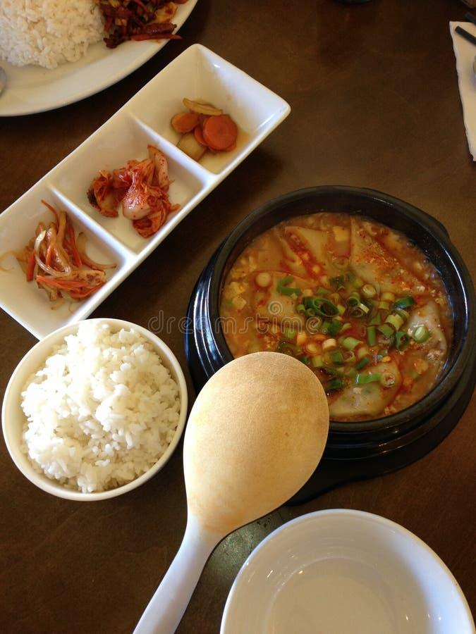 Koreansk lunch fotografering för bildbyråer