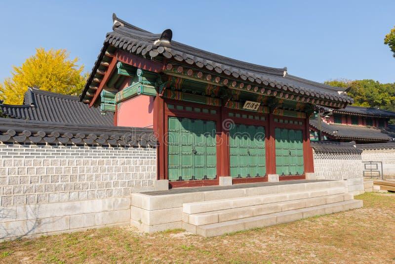Koreansk traditionell arkitektur fotografering för bildbyråer