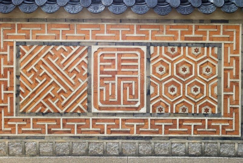 koreansk vägg royaltyfria foton