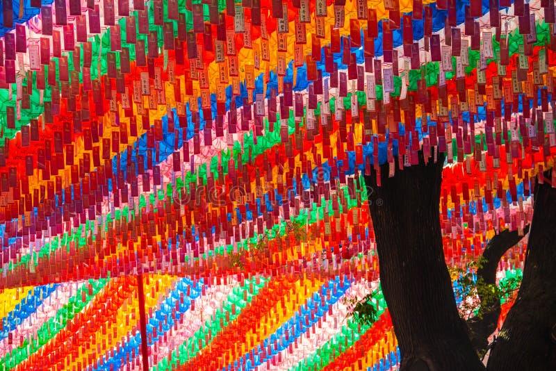 Koreanska buddistiska lyktor royaltyfri foto
