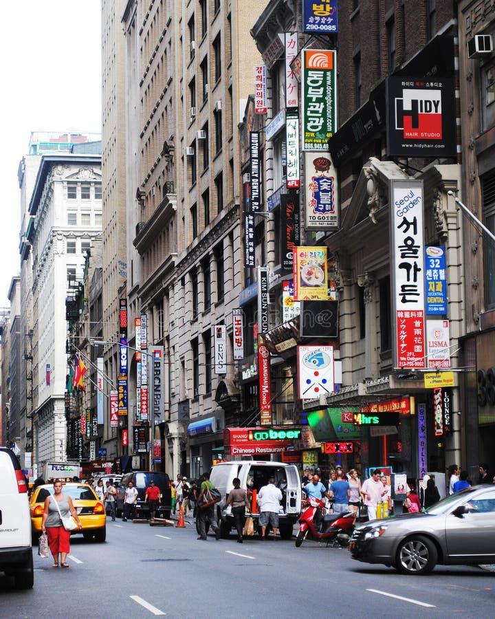 Koreatown New York stock foto's