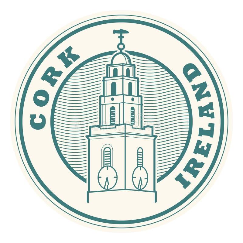 Korek, Irlandia znaczek ilustracji