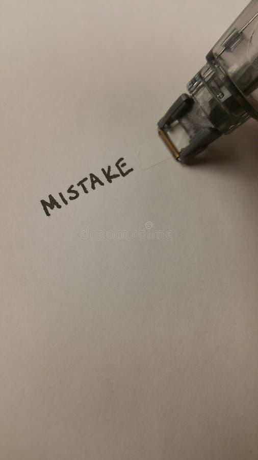 Korekcyjny taśma błąd obraz stock