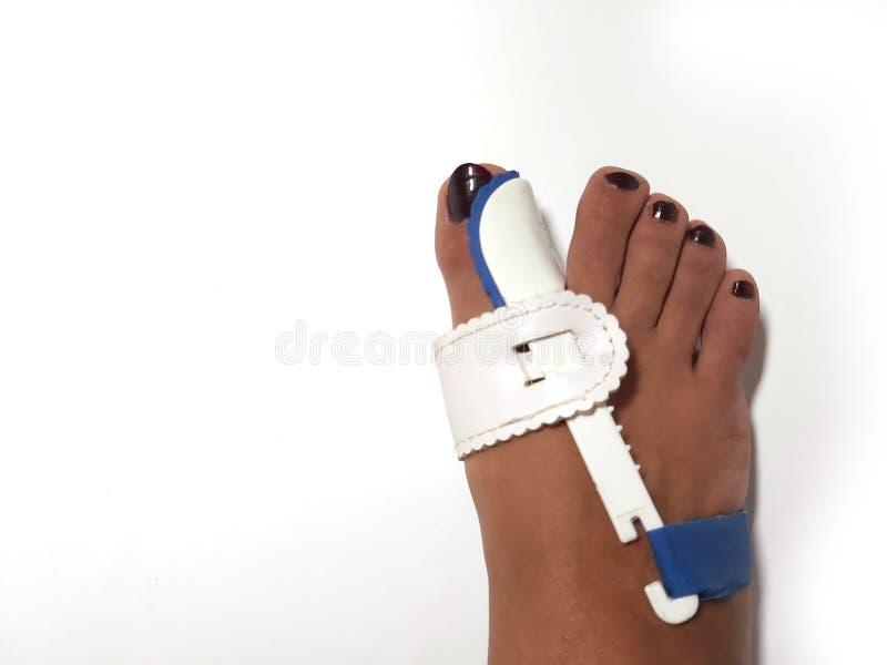 Korektor Tota Silicone Valgus Big Bunion Splint Prostaightener Foot podpora silikonowa dla ortopedów zdjęcia royalty free