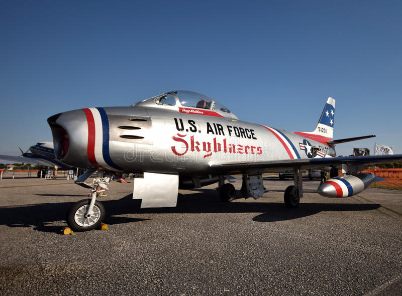 Koren ery F-86 Wojenna szabla zdjęcia royalty free