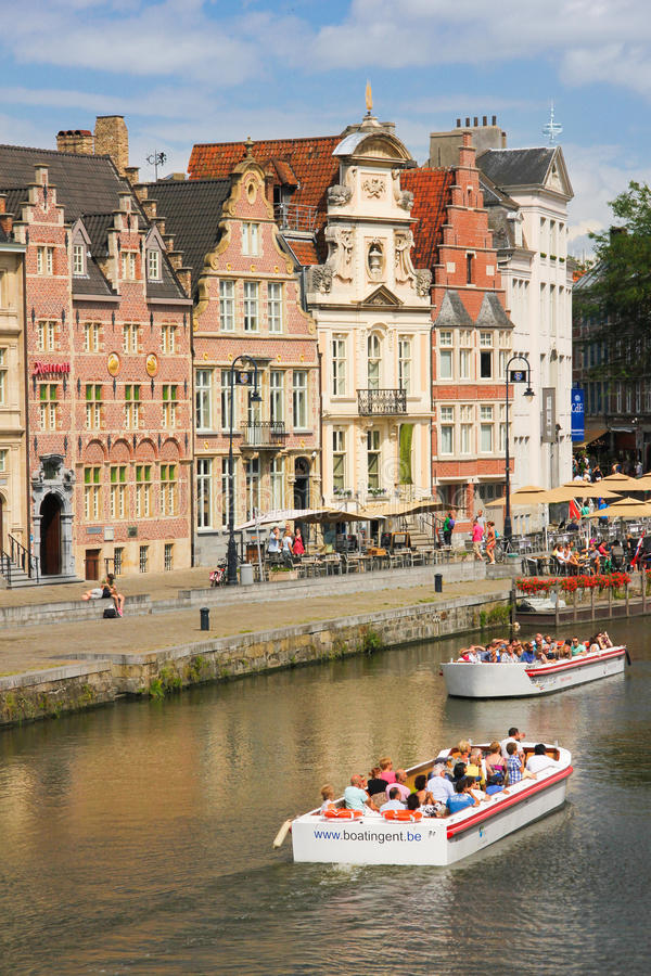 Korenlei. Ghent. Belgium royalty free stock photography