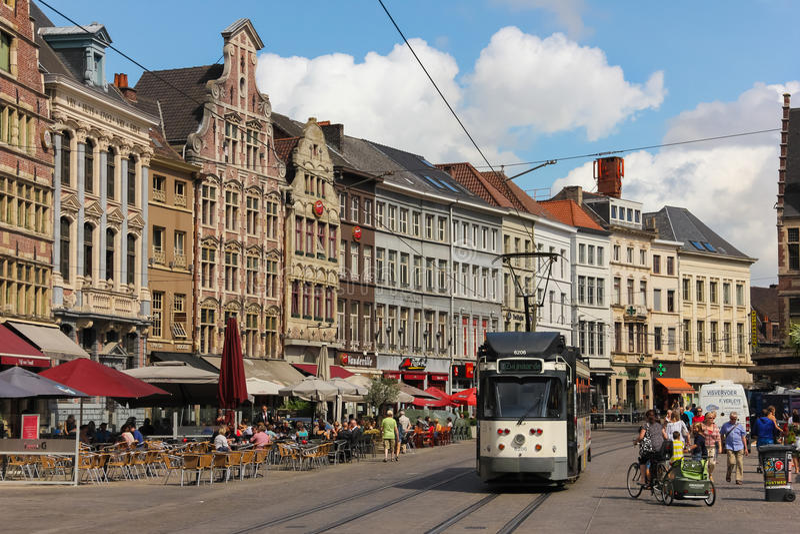 Korenmarkt Γάνδη Βέλγων στοκ φωτογραφίες με δικαίωμα ελεύθερης χρήσης