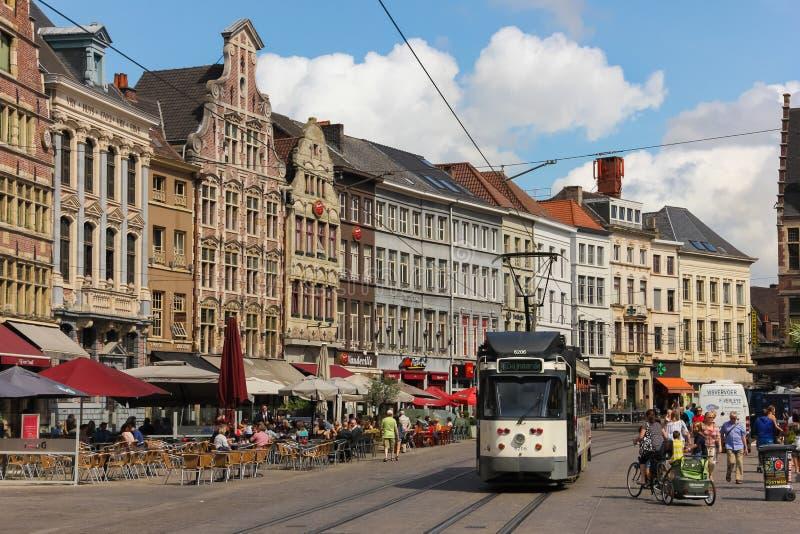 Korenmarkt 跟特 比利时 免版税库存照片
