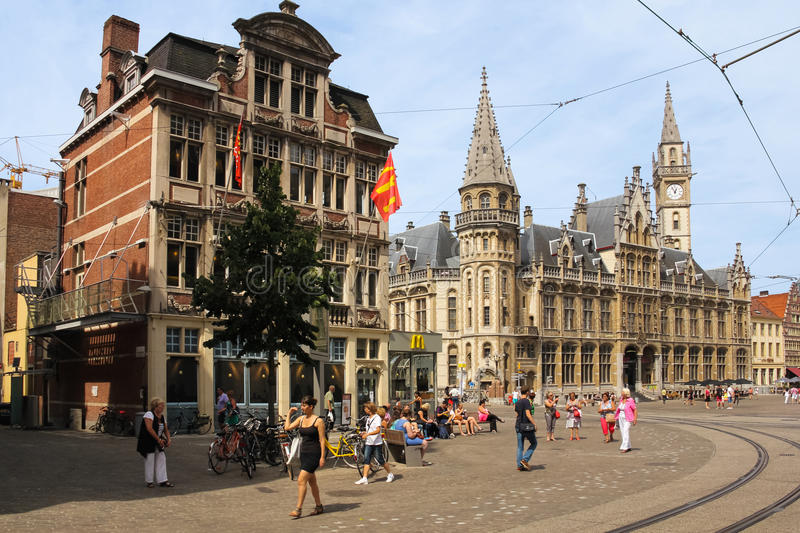 Korenmarkt gand belgium photos stock