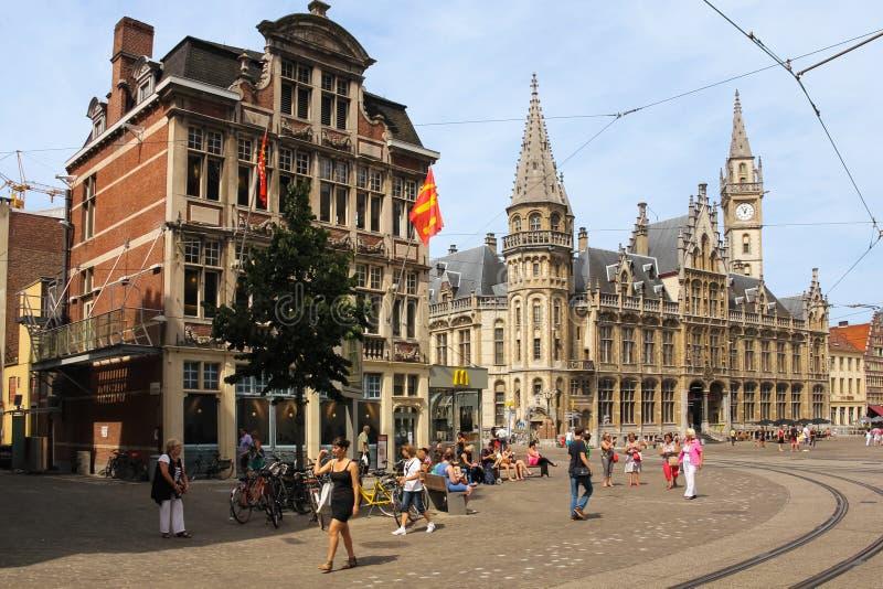 Korenmarkt . Ghent. Belgium stock photos