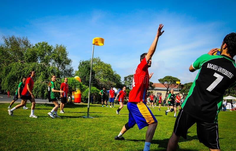 Korfball gra W sporta festiwalu zdjęcia royalty free