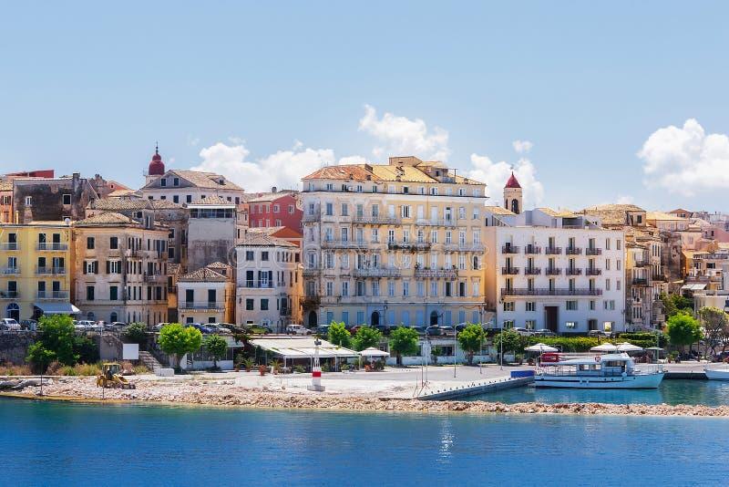Korfu, Hauptstadt von Korfu-Insel stockfoto