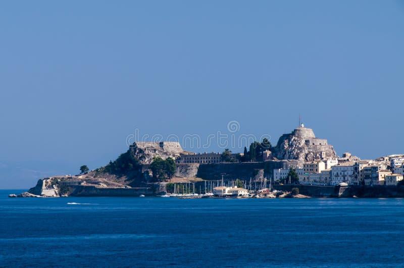 Korfu-Insel im Sommer lizenzfreies stockbild