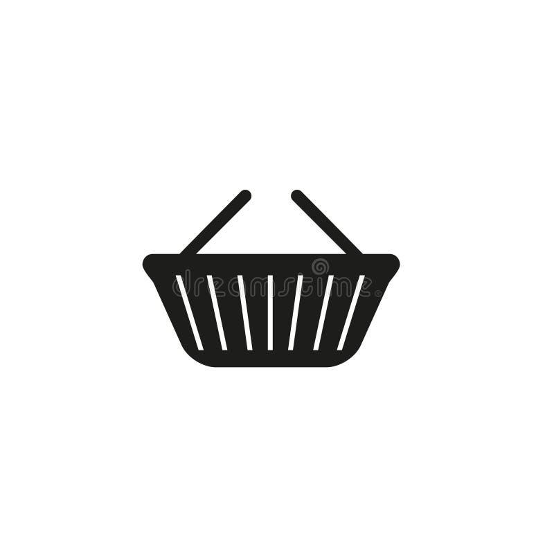 Korgen av shoppar den svarta symbolen vektor illustrationer